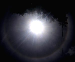 A halo seen around the sun