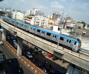 Hyderabad Metro chugs on Ameerpet-LB Nagar route