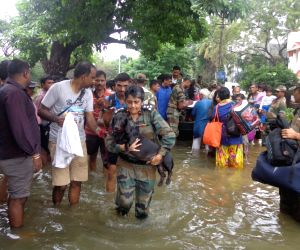 Chennai Floods - rescue operation