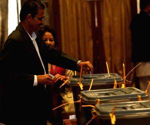 NEPAL KATHMANDU VOTING PROCESS PRESIDENT