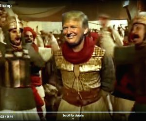 "A made-up viral video of US President Donald Trump dancing as Ranveer Singh on a ""Bajirao Mastani"" track is trending on all social media platforms including Twitter and Instagram. (Photo Credit: Mad Liberals/YouTube)"