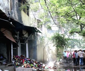 Fire at Chandni Chowk cloth market