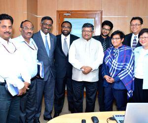 Malaysian delegation calls on Ravi Shankar Prasad
