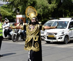 Raavan spreads traffic awareness in Haryana