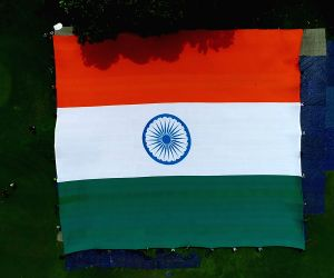 National flag measuring 12,150 sq feet unveiled