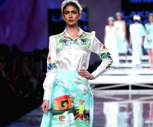 Sai Manjrekar, Neha Dhupia walk the ramp at Lakmé Fashion Week 2020 Day 2