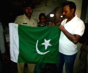 Pakistani flag hoisted atop a house in Nalanda