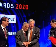 Free Photo: Narayana Murthy touches feet of Ratan Tata, Twitterati applauds