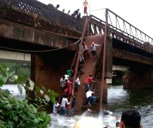 Footbridge collapses in Goa