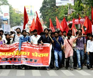 A protest rally by student organisation AISA