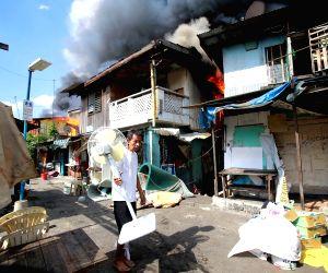 THE PHILIPPINES-PARANAQUE CITY-SLUM AREA FIRE