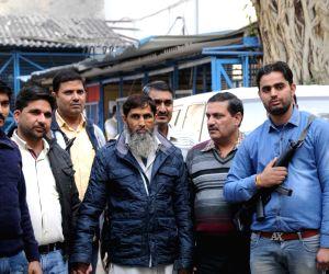A suspected member of Al Qaeda arrested by the Delhi Police Special Cell at Delhi on Dec. 16, 2015.
