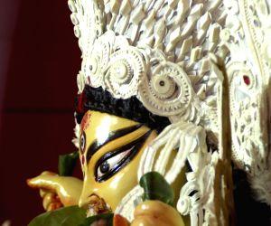 A traditional ritual during Durga Puja.