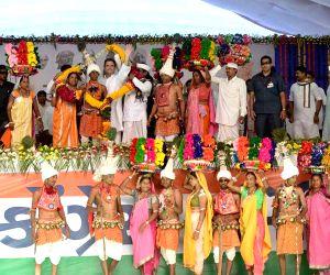 Narmada (Gujarat): Rahul Gandhi during a party programme