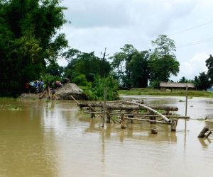 Lakhimpur (Assam): Flood affected village in Dhakuakhana