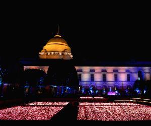 Illuminated Rashtrapati Bhavan