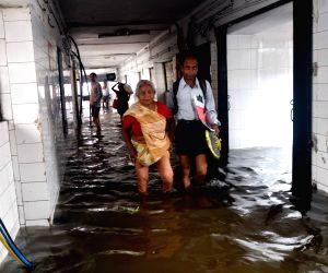 Nalanda Medical College Hospital flooded after rains
