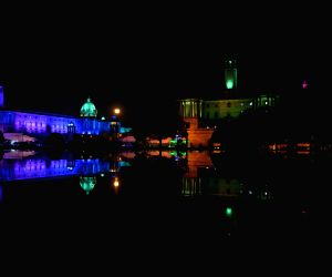 Dynamic lighting system installed at North Block, South Block