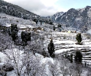 Snow Clad Himachal Village