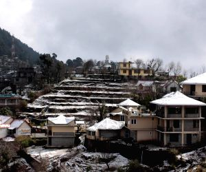 Snow covered Naddi village