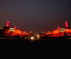Parliament, North Block and South Block spectacularly illuminated ahead of R-Day