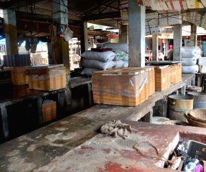 Deserted Ganeshguri fish market following Assam govt's 10-day ban on fish import