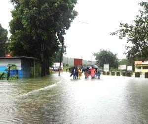 Kodagu (Karnataka): Heavy rains leave Bhagamandala flooded