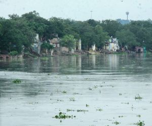 Swollen Yamuna river