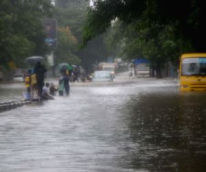 Heavy rains leave city water-logged