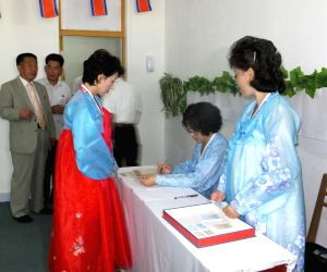 DPRK PYONGYANG ELECTIONS POLLING STATIONS