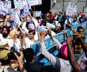 Aam Aadmi Party demonstration against Pakistani JIT