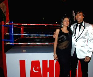 Aanaahad and Shraddha Das at the Premiere of Film Lahore at Cinemax.