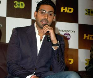 Abhishek at 3-d HD launch for Videocon D2H