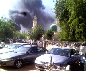 Abuja (Nigeria): Explosion site of a mosque in Kano
