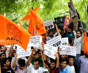 ABVP demonstration to demand scraping of C-SAT