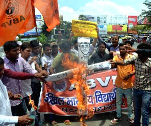 ABVP demonstration against Nitish Kumar