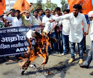 ABVP's demonstration against the killing of journalist Rajdev Ranjan