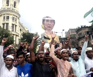 Muslim organisations' demonstration in support of Rohingya muslims