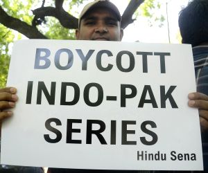 Protest against India-Pakistan match