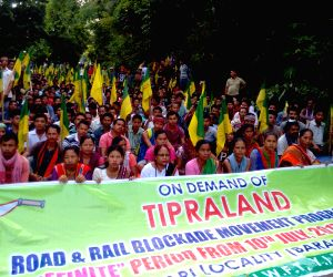 : Khowai (Tripura): Demonstration to demand separate