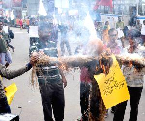 Leftist organisations' demonstration