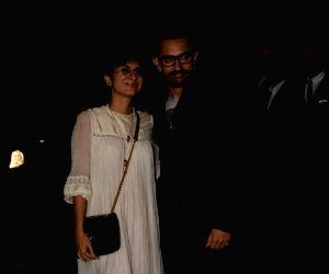 """Success party of film """"Secret Superstar"""" - Aamir Khan and Kiran Rao"""