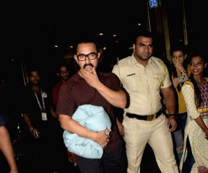 Aamir Khan seen at airport