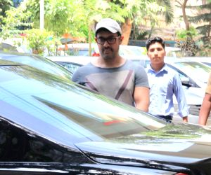 Aamir Khan seen at Bandra