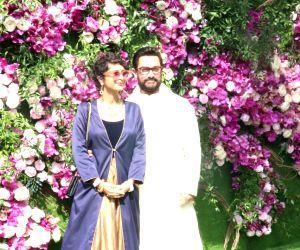 Akash, Shloka wedding festivities - Aamir Khan and Kiran Rao