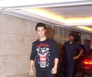 Actor Aayush Sharma arrives at Priyanka Chopra and Nick Jonas' engagement party in Mumbai on Aug 18, 2018.