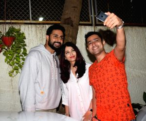 "Special screening of film ""102 Not Out"" - Abhishek Bachchan and Aishwarya Rai Bachchan"