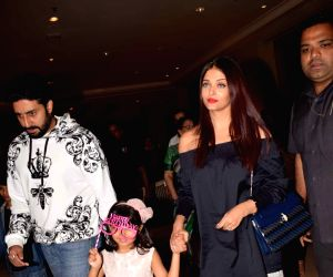 Aaradhya Bachchan's birthday celebration  - Abhishek Bachchan and Aishwarya Rai Bachchan