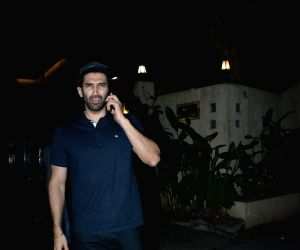 Aditya Roy Kapur seen at Bandra