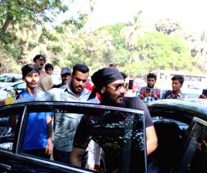 Actor Ajay Devgan seen in Mumbai's Versova, on March 13, 2019.